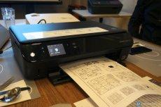 drukarka podczas drukowania