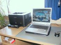 laptop i drukarka